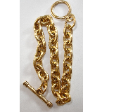 24K A. Gold Plated 7.5 inch Patera Heavyweight Plain Link Chain